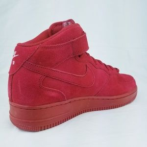 Nike Shoes - Nike Air Force 1 Mid '07 AF1 Gym Red October White